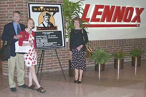 Owners of Kramer Plumbing and Heating Inc. at Lennox Corporate Headquarters